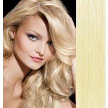 Vlasy pro metodu Pu Extension   TapeX   Tape Hair   Tape IN 50cm  nejsvětlejší blond 9789bc677ff