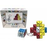 Rubikův trojúhelníkový hlavolam + Rubikova kostka přívěsek