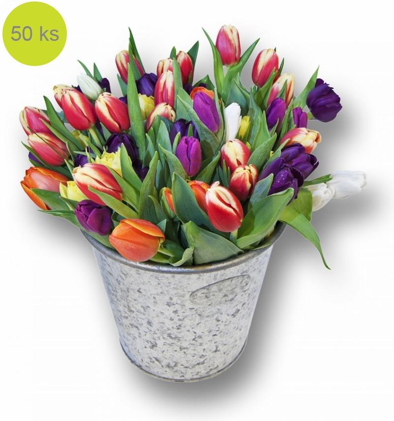 Тюльпаны в ведре фото