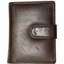 Tmavě kožená peněženka hnědá