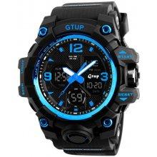 Gtup 1050 Shock resist modré s duálním časem 23436ef587