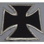 Dodavatel Choppers styl Oblíbená motorkářská nášivka, Maltézský kříž. stříbrný lem.