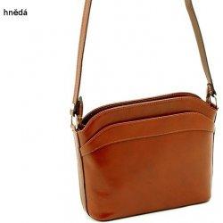 4b7f75bf5bfc dámská malá kožená kabelka listonoška crossbody hnědá alternativy ...