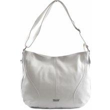 da58e08d70 Bright klasická dámská kabelka vak měkká A4 bílá
