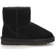 a3adf7b1bfb 24hore kotníkové boty nízké kožené válenky černé