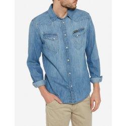Wrangler pánská Jeans košile regular fit W5870O64E Light Indigo od 1 ... c65e3d5769