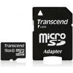 Transcend microSDHC 16GB Class 10 + adaptér TS16GUSDHC10