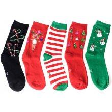 Calzanatta dámské vánoční thermo ponožky - balíček 5 párů - 1286
