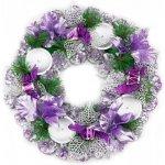 Seizis Adventní věnec fialový