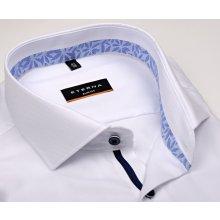 Eterna Slim Fit - bílá košile s jemnou strukturou a květinovým vnitřním  límcem a manžetou cf5f330c7e