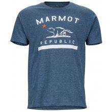 Marmot Republic Tee SS modrá