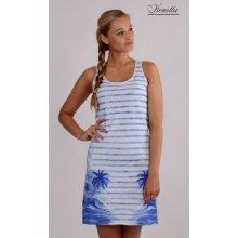 Plážové šaty na ramínka Ostrov modré