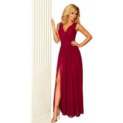Luxusní dámské společenské a plesové šifonové šaty dlouhé bordó 433ad834887