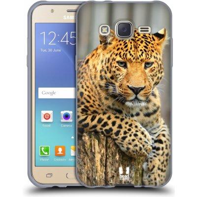 Pouzdro HEAD CASE Samsung Galaxy J5, J500, (J5 DUOS) vzor Divočina, Divoký život a zvířata foto LEOPARD PORTRÉT