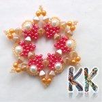Vánoční hvězda, Barva Červená Korálky Katlas