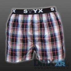 71bbb42c1a STYX UNDERWEAR bavlněné černo-modro-růžové kostkované pánské trenýrky Sport  B415