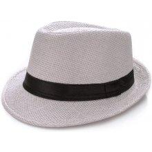 Slaměný klobouk pánský white 1667-3