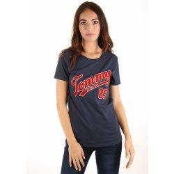 5812b01ac2bb Dámská Trička Tommy Hilfiger dámské tričko Tommy tmavě modré