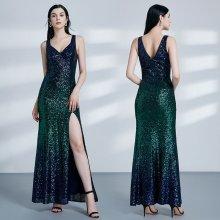 862e050e0a9f Nejnovější recenze ze sekce Plesové šaty. Tmavé flitrové společenské šaty  alá mořská panna modrá zelená