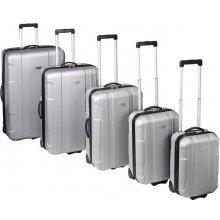 Dunlop robustní skořepinový kufr stříbrný 78 l
