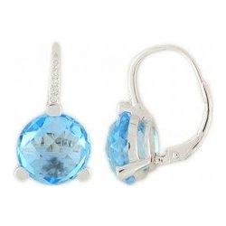 Gems diamonds diamantové náušnice bílé zlato briliant modrý topaz blue  topaz 3880342 8f7db2dbd00