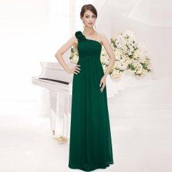 c92455ca445 Dlouhé šaty společenské na 1 rameno zelená