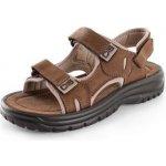 Obuv sandál CORK RAMON kožené sandály, hnědé
