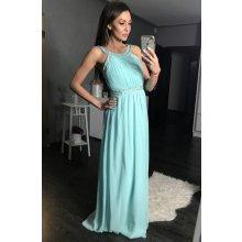 412d8d345682 Eva   Lola dámské dlouhé plesové šaty světle modrá