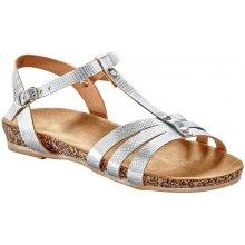 Blancheporte Sandály s metalickými pásky stříbrná