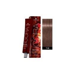 Schwarzkopf Igora Royal Opulescence permanentní barva na vlasy Powder Blush  7-48 60 ml e7952322ab
