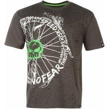 No Fear Moto Graphic T Shirt Mens Skull/Spokes