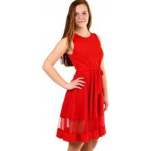 cba1684f8786 Plesové dámské šaty bez rukávu červená