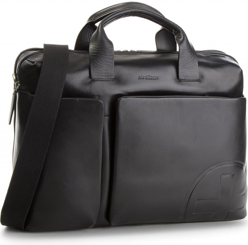 Strellson pánská kožená taška Jones 4010002358 černá od 6 150 Kč -  Heureka.cz 9de90b330f1