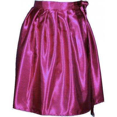 Victorie saténová zavinovací sukně tmavě růžová