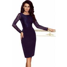 f2b3dfc07322 Dámské společenské šaty krajkové s dlouhým rukávem tmavě modrá
