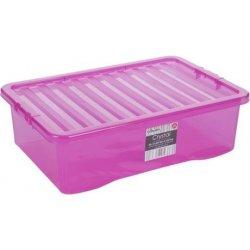 Úložný box WHAM 12332 BOX S VÍKEM 32L RŮŽOVÁ