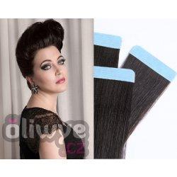 Vlasy pásky tapex tape in remy 50cm 20ks  1b přírodní černá černohnědá 671ef8871d