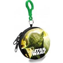 EUROSWAN Dětská kovová peněženka s karabinou Star Wars Yoda