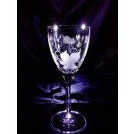 Lsg-Crystal Skleničky broušené na bílé víno dekor Víno dárkové balení satén WW-004 6 Ks 250 ml