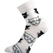 Boma dámské ponožky Xantipa kočka bílá