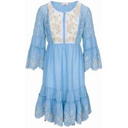 be1dc0b7fb3 Linea Tesini by heine úpletové šaty s ozdobnými detaily modrý denim ...