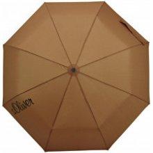 s.Oliver Dámský skládací mechanický deštník Basic Uni brown 70865SO22