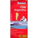 Chile Argentina National Map