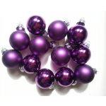 Sada skleněných baněk 2,5cm ( 24ks ) fialová