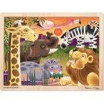 Melissa & Doug dřevěné puzzle Afrika 24 ks