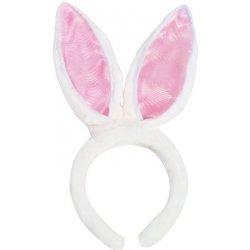 Čelenka do vlasů Čelenka králičí uši - bílo-růžová 4346bcf379