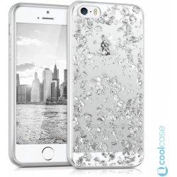 Pouzdro kwmobile Crystal Apple iPhone 5   5S   SE Stříbrné kousky od ... 999c42e4aa7