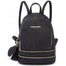 da748516e Lulu Bags Roztomilý designový batůžek Miss Lulu černý