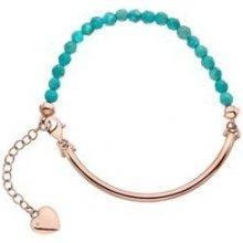 Stříbrný náramek Hot Diamonds Festival Turquoise Rose Gold DL308