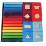 Grimm's Domino s geometrickými tvary